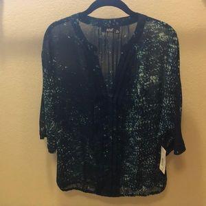 NWT. Cute sheer blouse.